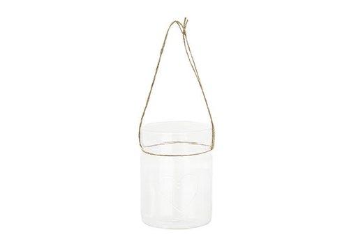 Teelicht Anhänger | Herz | Glas | gross