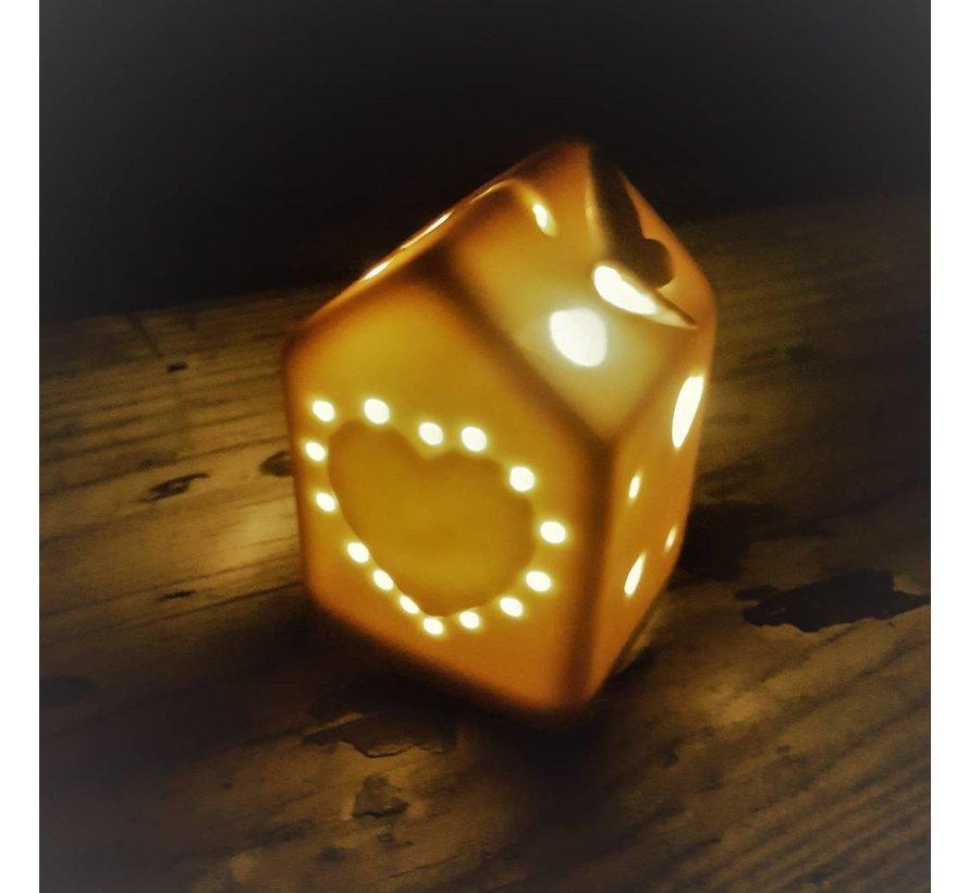 Deko Häuschen mit LED Beleuchtung | plus Ersatzbatterie