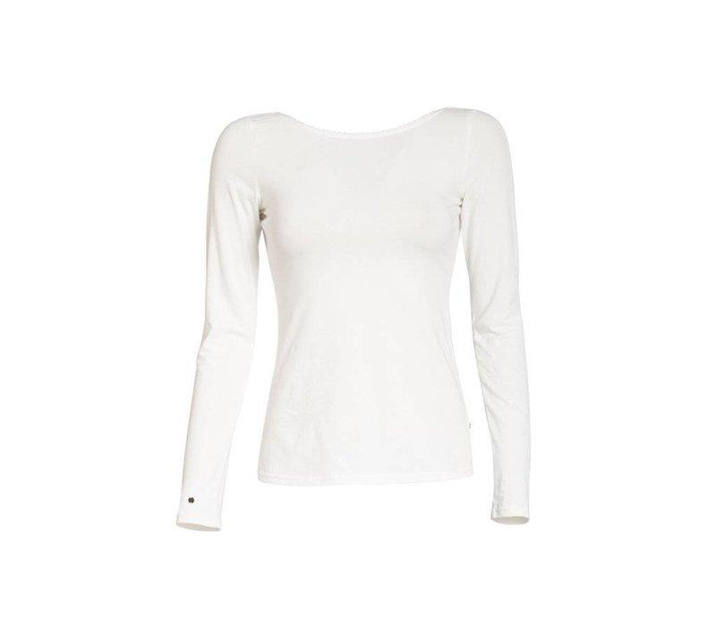 Shirt | logo longsleeve | white sparkling spume