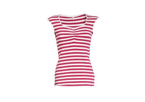 Blutsgeschwister Top | decolleté diva top | san diego stripes