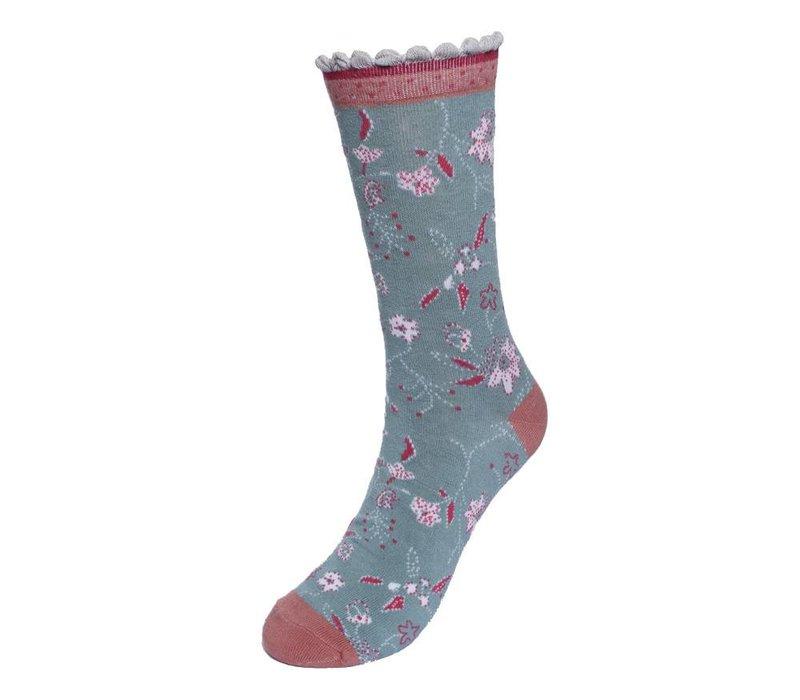 Socken | Irma Romantic | misty green