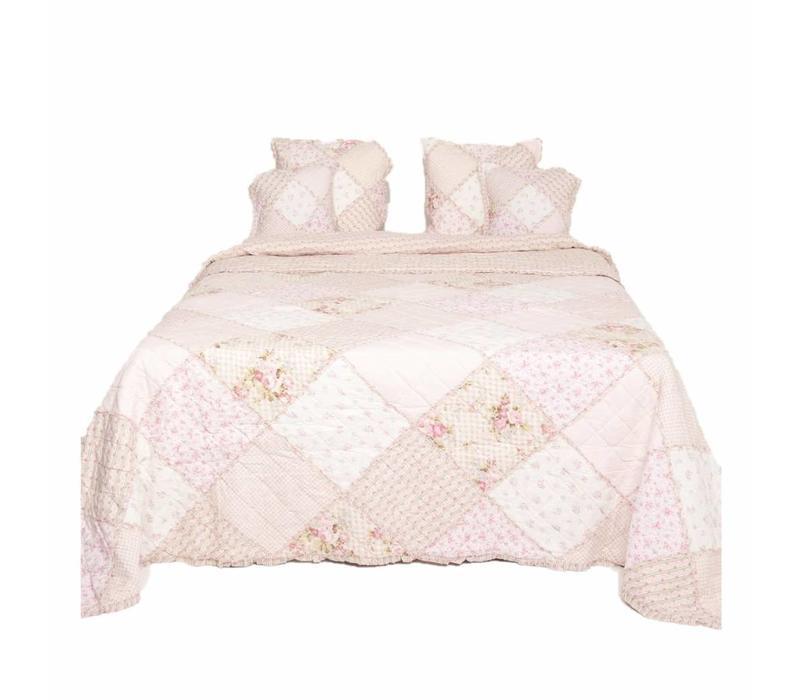 Bettüberwurf | Altrosa | Rose | 180x260cm