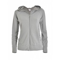 Sweatshirt | HOODED FULL ZIP JACKET |  PEARL GRAY