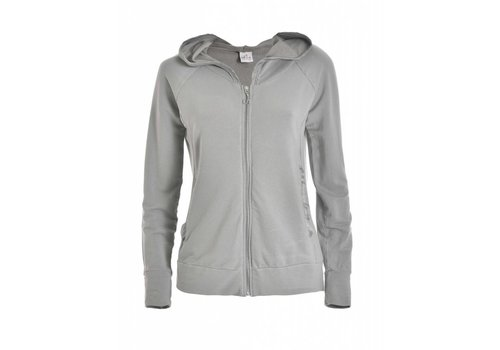 DEHA Sweatshirt | HOODED FULL ZIP JACKET |  PEARL GRAY
