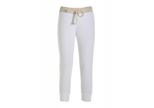 DEHA Hose | FRENCH TERRY CROPPED PANTS | WHITE
