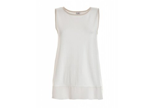 DEHA Shirt | SLEEVELESS SWEATER | WHITE