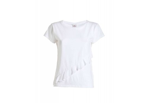 DEHA Shirt | RUFFLE T-SHIRT | WHITE