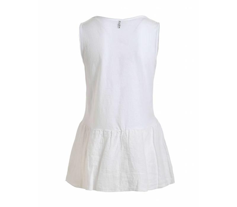 Shirt | PEPLUM TANK TOP | WHITE