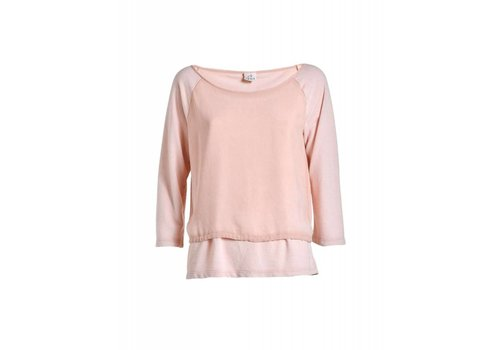 DEHA Shirt | VISCOSE DOUBLED SWEATSHIRT | ROSA