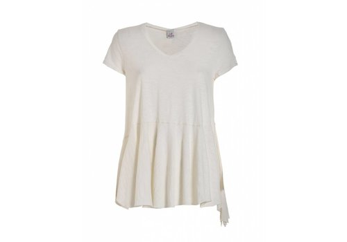 DEHA Shirt | PEPLUM T-SHIRT | WHITE