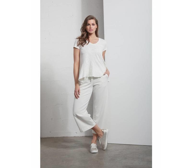 Shirt | PEPLUM T-SHIRT | WHITE