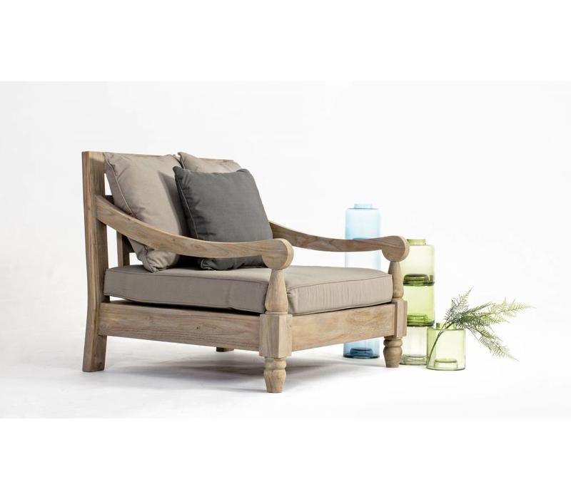lounge sessel bali outdoor gartensessel teak holz fsc enchant concept store. Black Bedroom Furniture Sets. Home Design Ideas