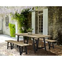 Holzbank Mendoza | Gartenbank | Teak Holz FSC lakiert