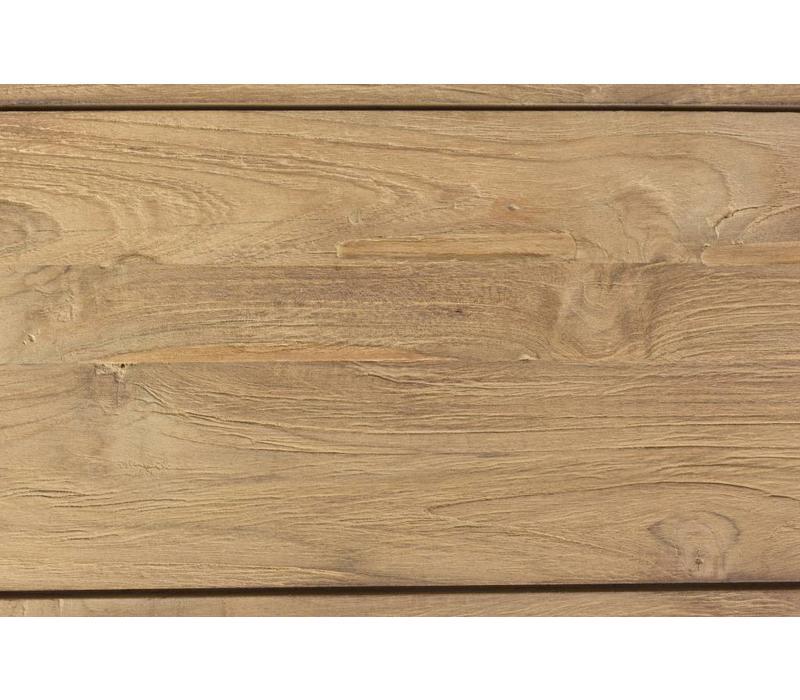 Gartentisch Mendoza | Holztisch 220x110cm | Teak Holz FSC lakiert