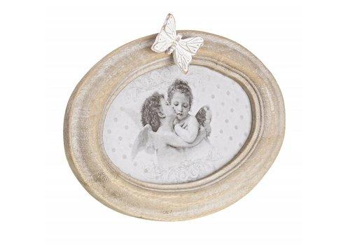 Bilderrahmen Shabby Traum | Schmetterling | Oval