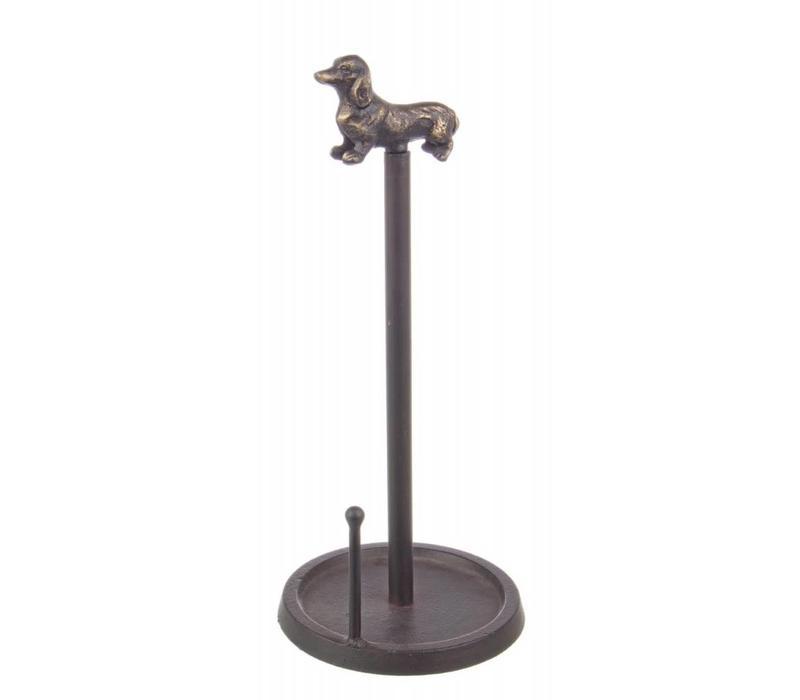 Papierrollenhalter | Vintage Hund | Ø15x36cm
