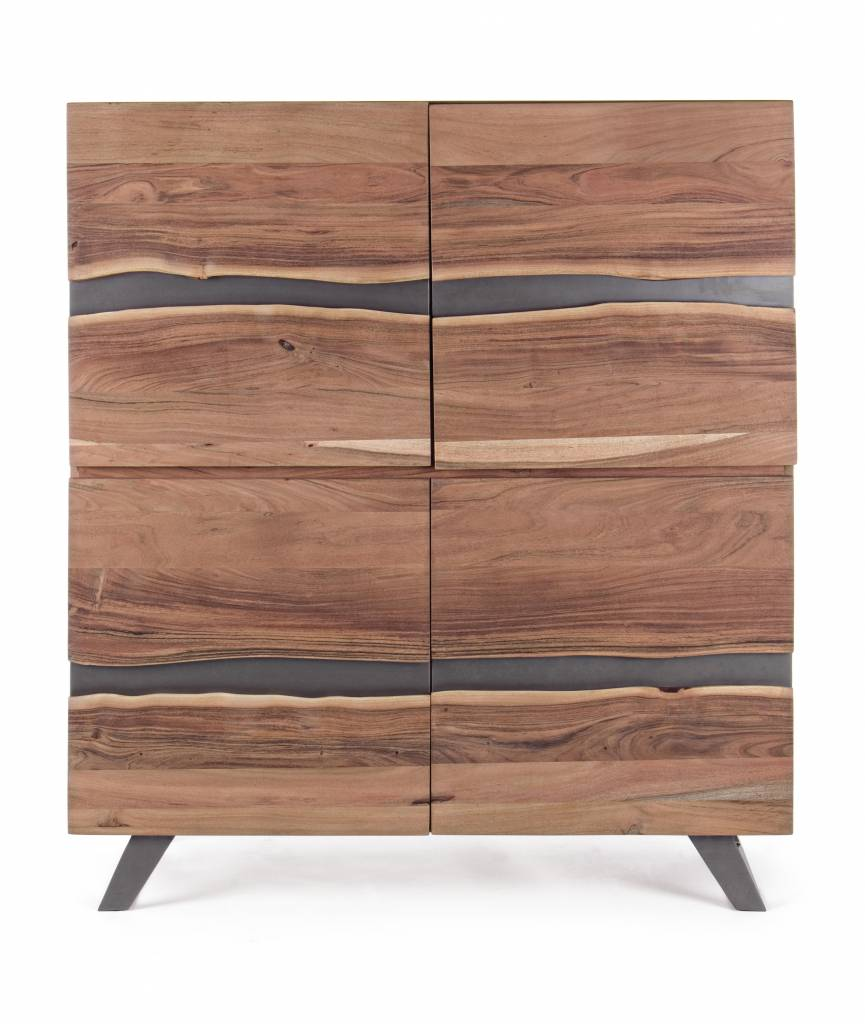 sideboard hoch aron massivholz 118x45x138 cm enchant concept store. Black Bedroom Furniture Sets. Home Design Ideas