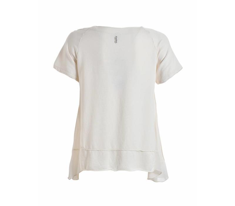Shirt | SHORT SLEEVE SWEATSHIRT | CREME
