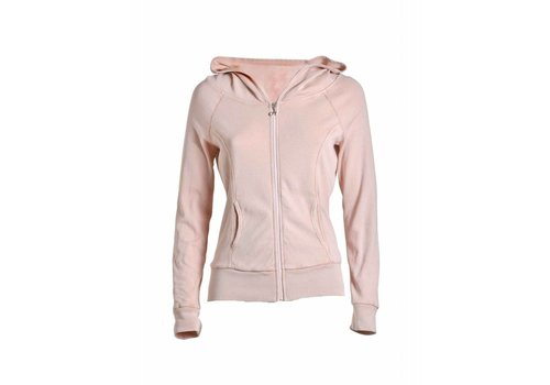 DEHA Sweatshirt | FULL ZIP HOODED SWEATSHIRT | SOFT ROSE