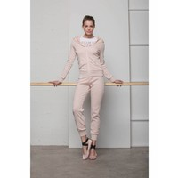 Sweatshirt | FULL ZIP HOODED SWEATSHIRT | SOFT ROSE