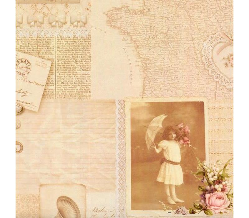 Geschenkpapier | Vintage Picture | 70x200cm