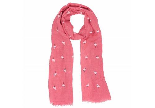 Clayre & Eef Schal Flamingo | Pink Summer