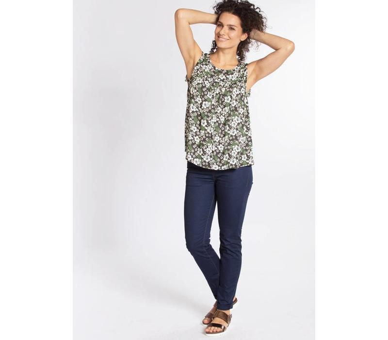 Shirt | kilauea tete a tete top | hula hibiscus
