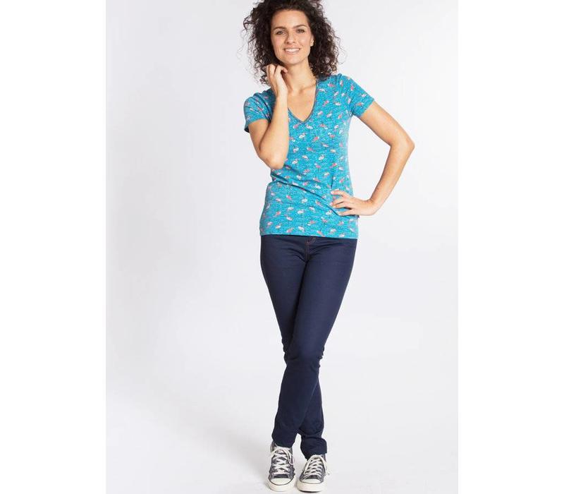 Shirt | luau kalamuku shirt | flamingo bingo