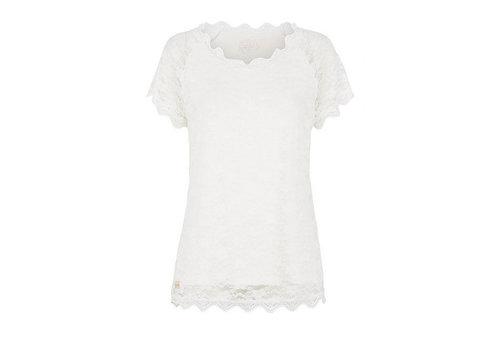 Tina Wodstrup T-Shirt mit Spitze | Pearl | Creme