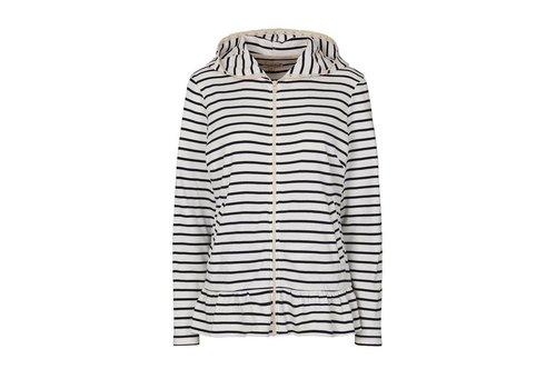 Tina Wodstrup Sweater mit Streifen | Stripe | Weiss