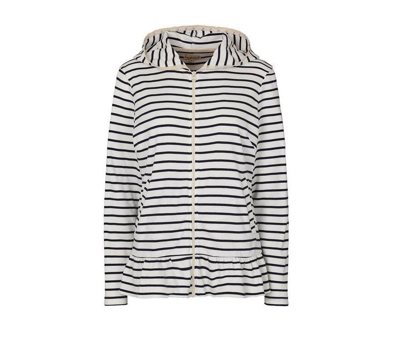 Sweater mit Streifen | Stripe | Weiss