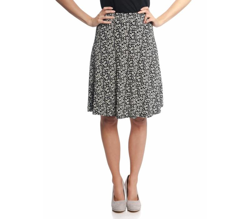 Rock | City Flower Skirt | black