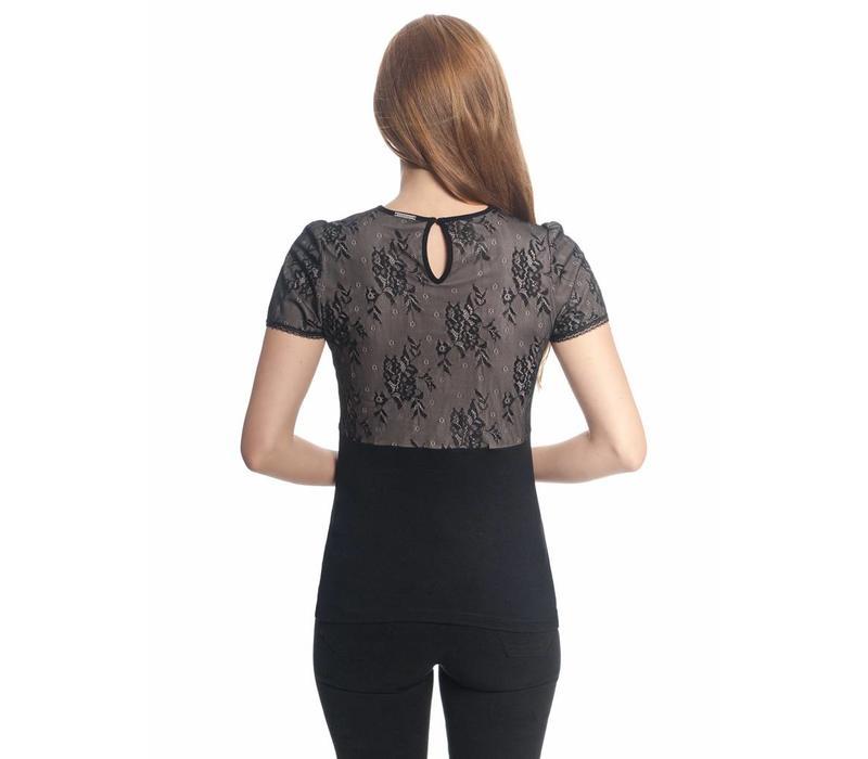 Shirt | Summer Lace Shirt | black