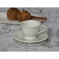 Espresso Tasse mit Unterteller | Provence | Weiss