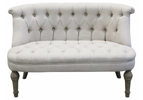 Chic Antique Französisches Sofa | Leinen | 2 Sitzer