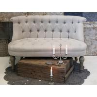 Französisches Sofa   Leinen   2 Sitzer