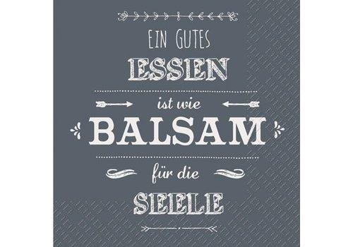 Servietten Papier | Gutes Essen ist wie Balsam...