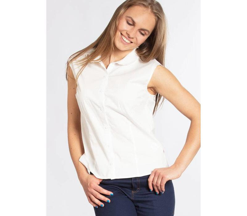 Bluse | tender slenderness blousette | fresh white