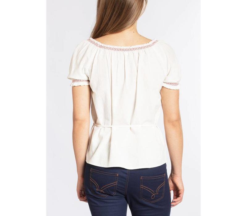 Bluse | pennys blouse | white foxtrot