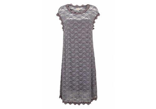 Tina Wodstrup Spitzenkleid mit Unterkleid | Lace Dress | Iron grey