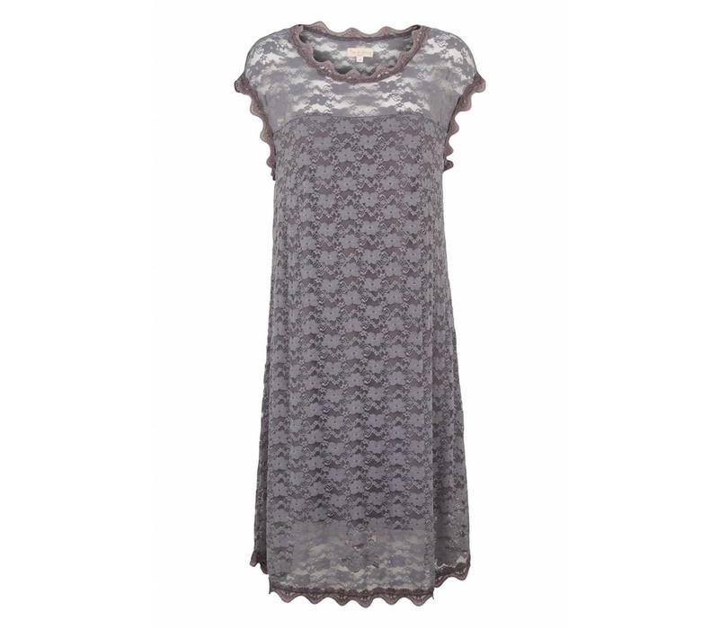 Spitzenkleid mit Unterkleid | Lace Dress | Iron grey