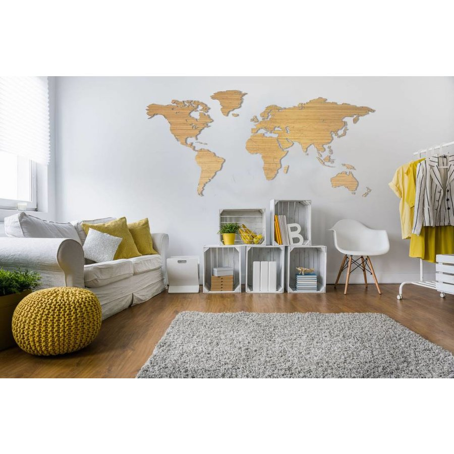 weltkarte holz bambus my wooden world. Black Bedroom Furniture Sets. Home Design Ideas