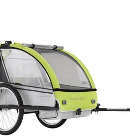 ADVENTURE ADVENTURE OUTDOOR AT5 - alloy 2-seater bicycle trailer