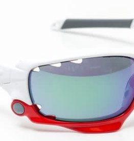 SUNGLASSES OAKLEY RACING JACKET RED/WHI + LENS