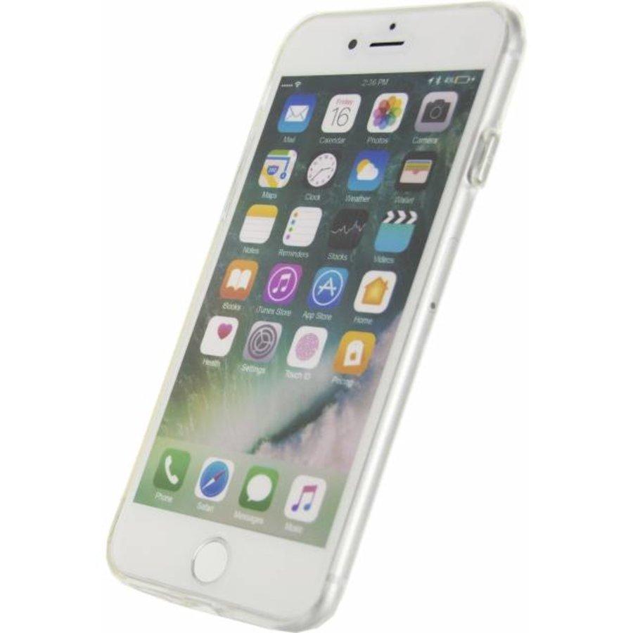 iPhone 7/8 - Gelly Case - Doorzichtig Zilver-2