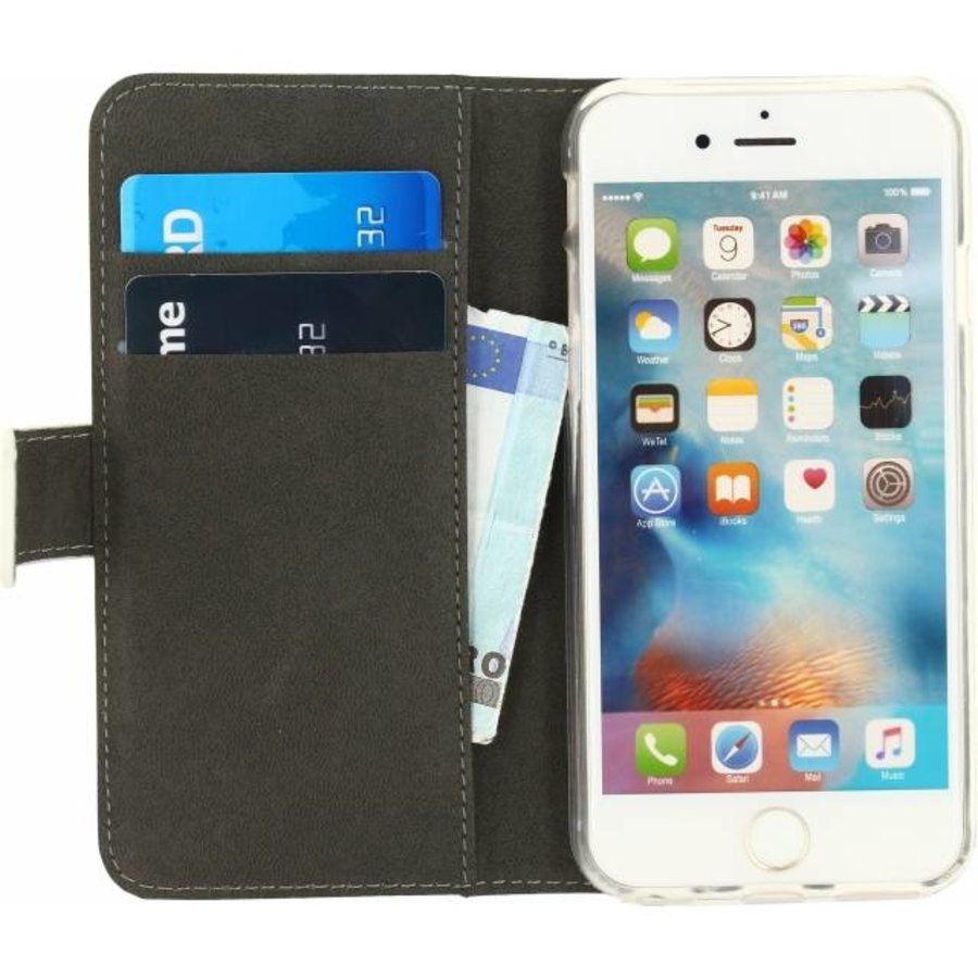 iPhone 6/6S - Gelly Wallet Book Case - White-3