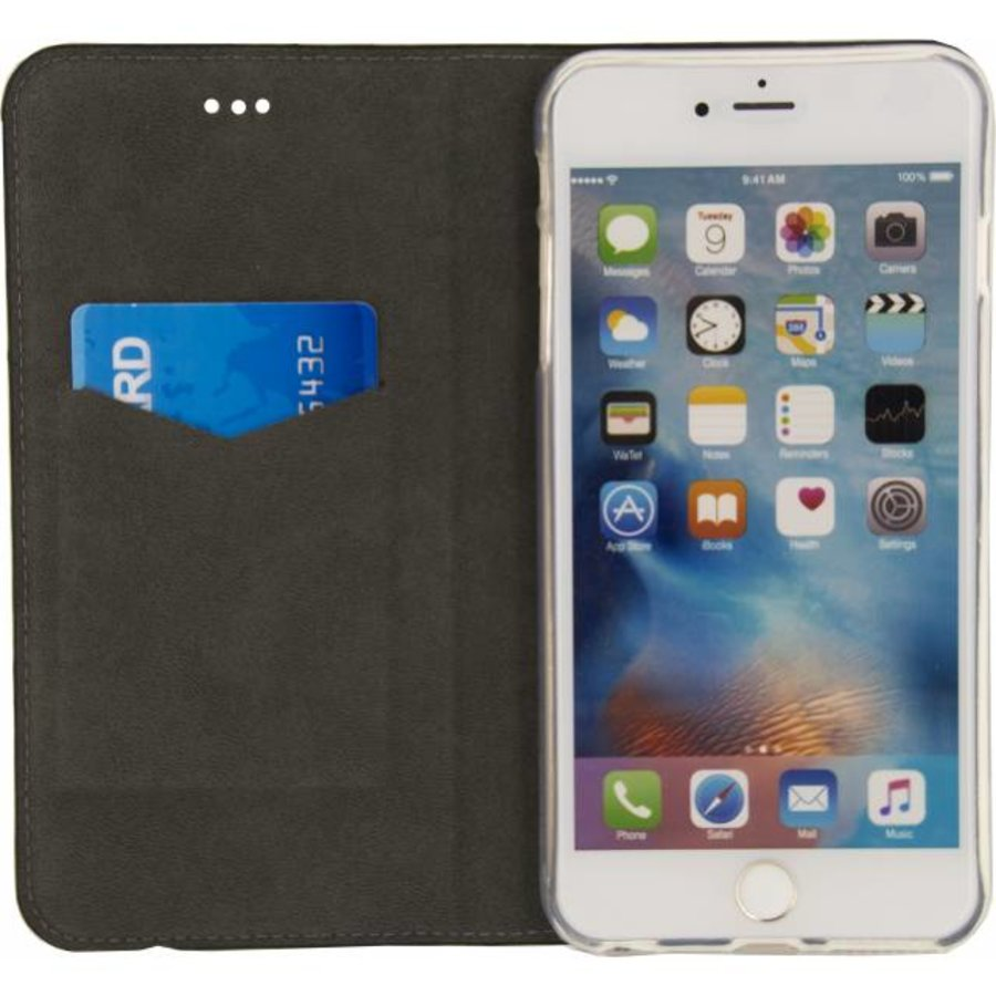 iPhone  6 Plus/ 6S Plus - Premium Gelly Book Case - Zwart-3