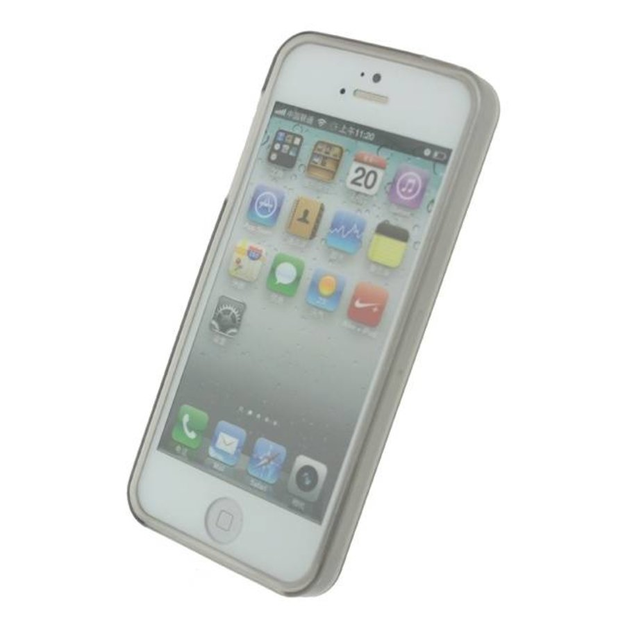 iPhone 5/5S/SE - Gelly Case - Smokey Grey-2