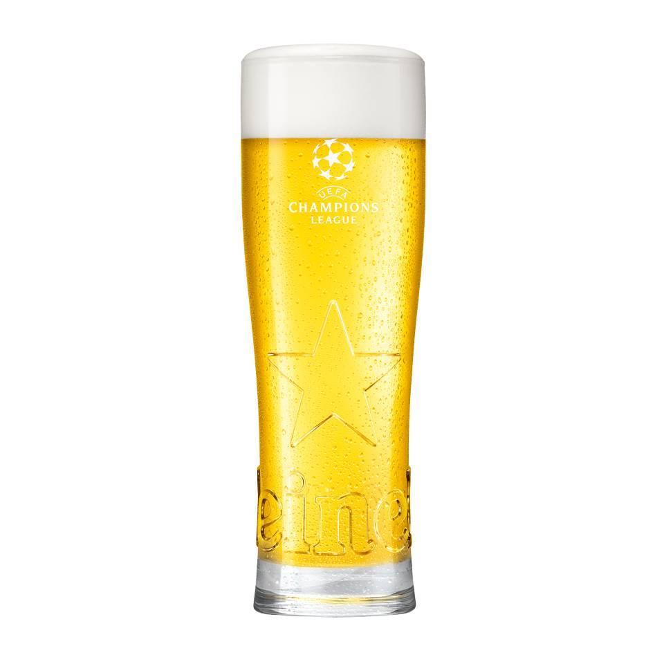 Heineken  Heineken UCL Star glasses 25cl (24 pcs)
