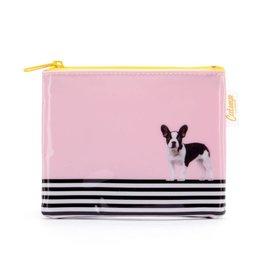 Catseye Dog on Stripe - Coin purse